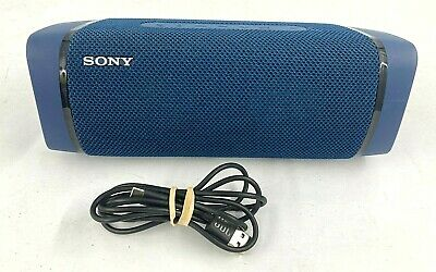 Sony SRS-XB33 EXTRA BASS Wireless Portable Bluetooth Speaker Blue wCharge Cable