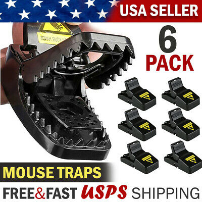Mouse Trap Mice Snap Traps Small Rat Killer Power Rodent Reusable Catcher 6 PACK