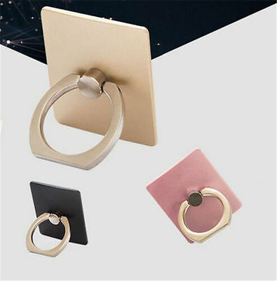 Cute For Tablet Phone Fashion Finger Ring Sticky Stand Holder random color