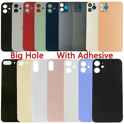 Big Hole Rear Back Glass Cover Replacement For iPhone 8 X XS XR 11 12 Pro Max SE