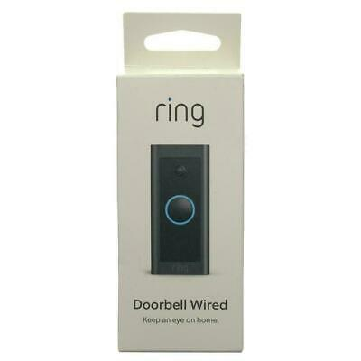 Ring Video Doorbell Wired - Black- NEW- FREE SHIPPING