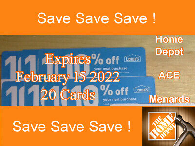 Twenty 20 10 OFF works At Home Depot ONLY Exp FEBRUARY  15  2022