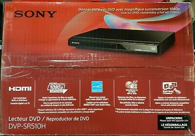 Sony DVP-SR510H Upscaling HDMI 1080p DVD Player W Remote NEW IN OPEN BOX