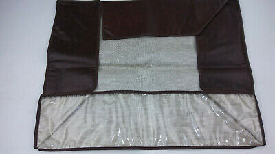 Vintage Universal VCR Dust Cover Brown Clear Front Cover 17 x 13