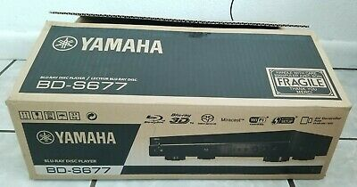 Rare Yamaha BD-S677 Blu-Ray Disc Player with Remote Tested Working