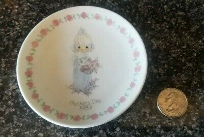 Precious Moments Mothers Day 1989 Small Porcelain Plate Plate Only