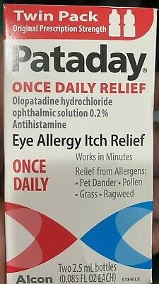Twinn Pack Pataday Eye Allergy Itch Relief 2-5ml Exp 2023