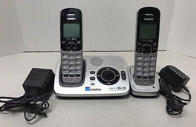 Uniden DECT 6-0 Cordless Digital Answering Phone Caller ID 2 Handsets Tested