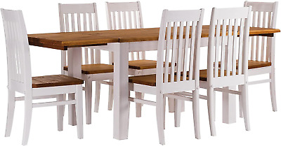 B.R.A.S.I.L.-Möbel Tablechamp Dining Table Set Rio Six Pine Chairs Extensions In
