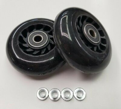 Travelpro Luggage Replacement Part Rollerblade In-line Skate Wheels 75mm  x2
