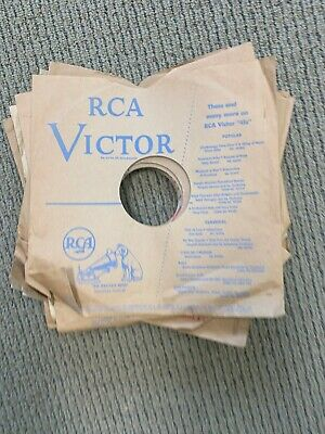 RCA VICTOR 78 RPM RECORD SLEEVES LOT OF 10 NO RECORDS VG