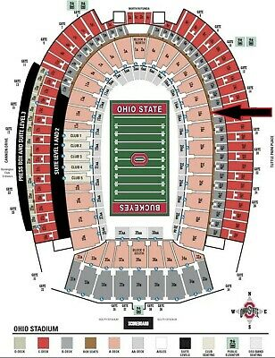 Two 2 Ohio State v Penn State Football Tix Sec 16A Row 7 - Parking Pass