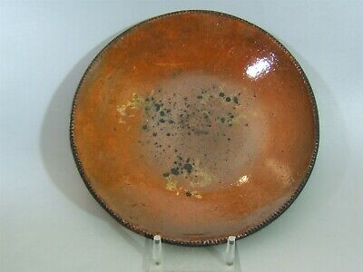 12 inch red ware stoneware plate - platter ca- 1800s