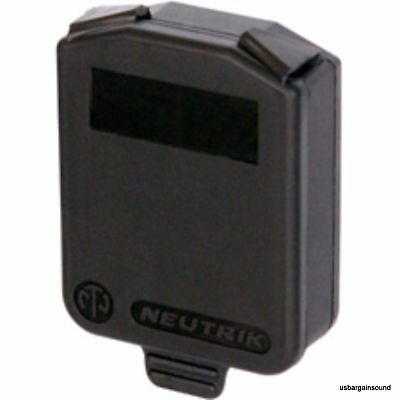 Neutrik SCDX Black Hinged Sealing Cover for all D-size chassis connector
