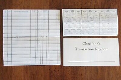 10 CHECKBOOK TRANSACTION REGISTERS  CALENDAR 2018 2019 2020 CHECK BOOK REGISTER