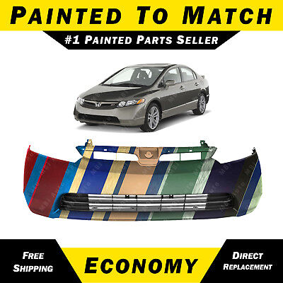 NEW Painted To Match Front Bumper Cover for 2006-2008 Honda Civic Sedan - Hybrid