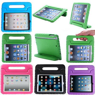 Kids Shock Proof Foam Case Handle Cover Stand for iPad 2 3 4 5 Mini Retina - Air