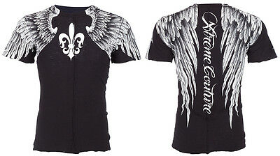 XTREME COUTURE by AFFLICTION Mens T-Shirt AEROSMITH Wings Tattoo Biker UFC 40