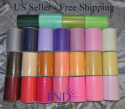 TULLE ROLL SPOOL 6x100 YDS 300 FT TUTU WEDDING BOW GIFT CRAFT DECORATION