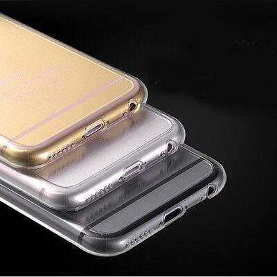 10PC Ultra Thin Crystal Clear Soft Gel TPU Guard Case Cover For iPhone 6s 4-7