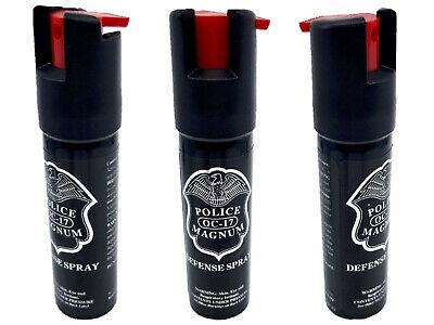 3 Police Magnum pepper spray -75oz unit safety lock self defense protection