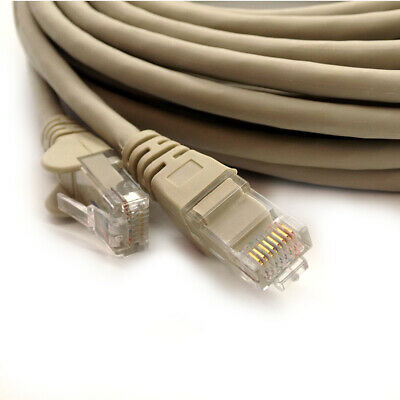 1m to 50m RJ45 CAT6 Ethernet Network LAN Patch Lead Fast Internet Cable Grey Lot