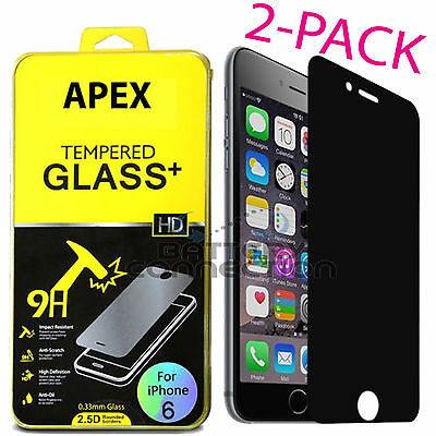 Privacy Anti-Spy REAL Tempered Glass Screen Protector for 5-5 iPhone 6S Plus