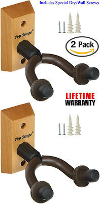 2-PACK Top Stage™ Guitar Wall Mounted Hanger Holder Wooden Stand  JX15-NA-Q2