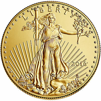 2016 - 5 110oz Gold American Eagle BU