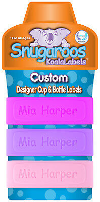 PACK of 3 Personalized Baby Bottle Labels - Sippy Cup Labels