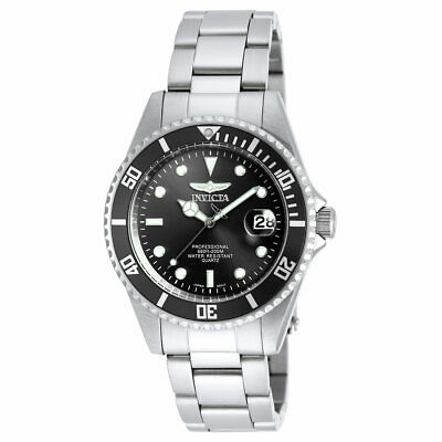 Invicta 8932OB Mens Pro Diver Black Dial SS Bracelet Dive Watch