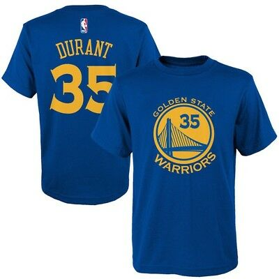 Kevin Durant Golden State Warriors 35 NBA Boys T-Shirt - Youth S M L XL Blue