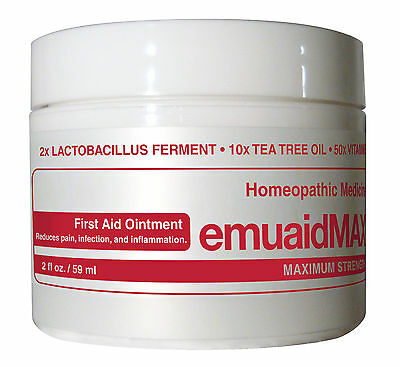 Emuaid MAX First Aid Ointment 2oz - For Eczema Acne Dermatitis Psoriasis - More