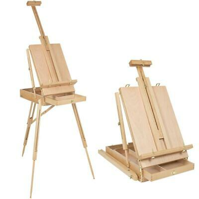 French Tripod Easel Folding Durable Wooden Sketch Box Portable Art Craft Painter