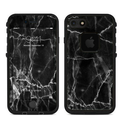 Skin for LifeProof FRE iPhone 7 - Black Marble - Sticker Decal