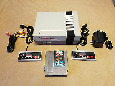 Nintendo NES Game Console  System W Super Mario Bros New 72 Pin