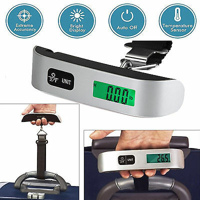 50kg10g Portable Travel LCD Digital Hanging Luggage Scale Electronic Weight