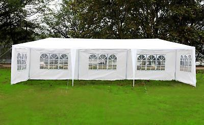 New 10x30 White Outdoor Gazebo Canopy Wedding Party Tent W Removable Walls