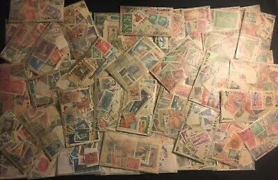 Worldwide Off Paper Stamps-Unsearched Collection lot-Mint-usedglassines-Bonus