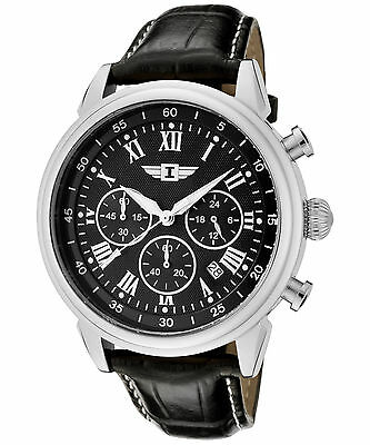 I By Invicta Mens 90242-001 Chronograph Stainless Steel Black Dial Watch