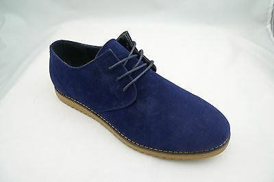 Aldo Bellini Shoes Mens Navy Suede Casual Lace up Oxford