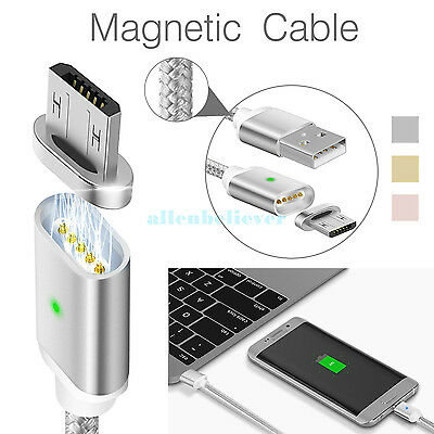 2-4A Magnetic Micro USB Charging Cable Adapter Charger for Android Samsung  LG