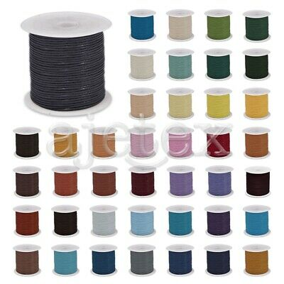 1 Roll 10M Real Leather Cord Thread Jewelry Beading Bracelet Crafts 11-523mm