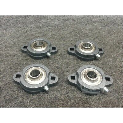 Lot of 4 IPTCI 203SA202-10N 2-Bolt Flange Bearings 58 Bore 3-27 L