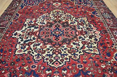 86x114 Amazing Colors Genuine Antique Persian Bakhtiari Hand Knotted Wool Rug