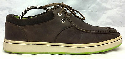 Sperry Top Sider Sz 11-5 M Mens Brown Leather Lace Up Boat Casual Shoes