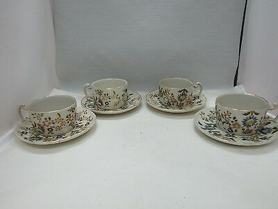 Vintage Zsolnay Floral Cups - Saucer Lot of 8