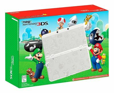 New Nintendo 3DS Super Mario White Edition BRAND NEW