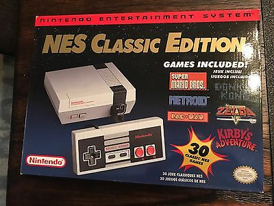 Brand New - Nintendo NES Classic Edition Console with 30 Games FREE SHIPPING