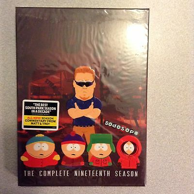 South Park The Complete Nineteenth Season 19 DVD 2016 2-Disc Set NEW